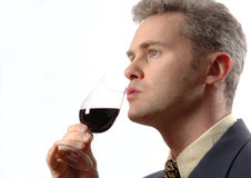 Glass_wine. Businessman Royalty Free Stock Photography