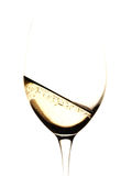 Glass of wine. An high-key picture of a glass of white sparkling wine, like champagne. White background Stock Images