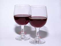 Glass of wine. Red wine in glasses Royalty Free Stock Photography