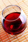 Glass of wine. Angle shot Royalty Free Stock Images