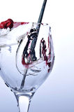 Glass of wine and art Royalty Free Stock Photography
