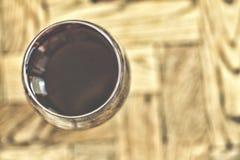 glass wine Bästa sikt, selektiv fokus Arkivbilder
