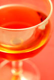 A glass of wine stock image