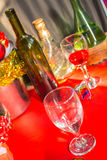 Glass wine on background. royalty free stock image