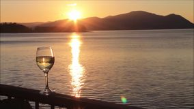 Sunset at Loch Linnhe. Argyll and Bute, Scotland, UK stock footage