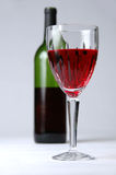 Glass of Wine and Bottle Royalty Free Stock Image