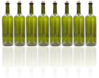 Glass wine bottles Royalty Free Stock Photos
