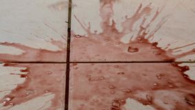 Glass of wine breaking stock footage