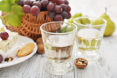 Glass with wine Stock Photo