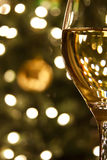 Glass of Wine at Christmas Royalty Free Stock Images