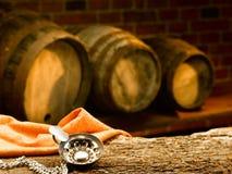 Glass of wine. Enjoy a good glass of wine Stock Photos
