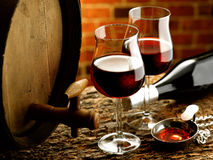 Glass of wine. Enjoy a good glass of wine Stock Images