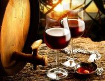 Glass of wine. Enjoy a good glass of wine Stock Image