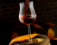Glass of wine. Enjoy a good glass of wine Royalty Free Stock Image