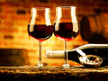 Glass of wine. Enjoy a good glass of wine Royalty Free Stock Images