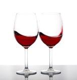glass wine för red två Arkivfoton