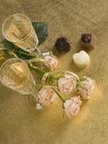 glass wine för ro två Arkivfoton