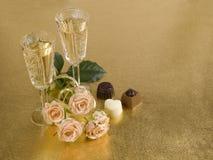 glass wine för ro två Arkivbild