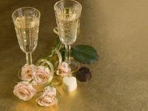 glass wine för ro två Royaltyfri Foto