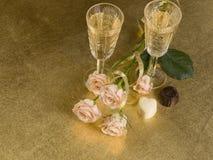glass wine för ro två Royaltyfria Foton