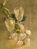 glass wine för ro två Royaltyfri Fotografi