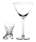 Glass, wine-glass. On a white background Stock Image