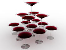 Glass wine glass with colored liquid №11 Stock Photography