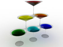 Glass wine glass with colored liquid №7 Royalty Free Stock Image