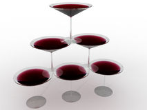 Glass wine glass with colored liquid №9 Stock Image