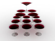 Glass wine glass with colored liquid №12 Royalty Free Stock Photo