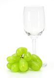 Glass of wine and grape Royalty Free Stock Photo