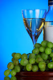 Glass of wine and grape bunch Royalty Free Stock Photo