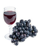 Glass with wine and grapes Royalty Free Stock Photography