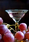 Glass of wine with grapes Royalty Free Stock Image