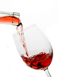 Glass of wine isolated on white Royalty Free Stock Image