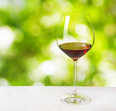 Glass of wine on nature background Royalty Free Stock Photography
