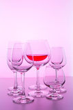 Glass with wine Royalty Free Stock Photos