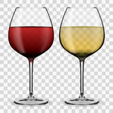 Glass with wine. Red wine. White wine. eps10 royalty free illustration