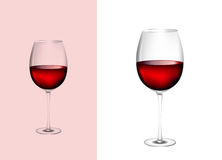 Glass of wine Stock Photos