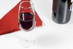 Glass of wine Rioja Gran Reserva of year 2004 Royalty Free Stock Image