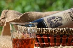 Glass of wine, still life Royalty Free Stock Images