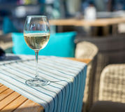 Glass of wine on the table Royalty Free Stock Photos