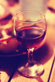 Glass of wine. View of the glass of red wine Stock Image
