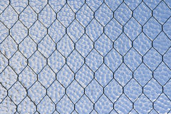 Glass and wire background Royalty Free Stock Photo