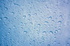 Glass With Water Drops Condensation. Stock Photos