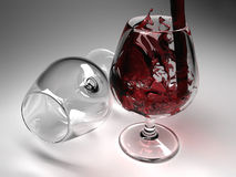 Free Glass With Wine Stock Image - 12790071