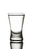 Glass wodka. Black and white image of wodka glass Royalty Free Stock Image