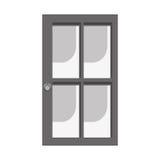 Glass and wood door icon image Stock Photo