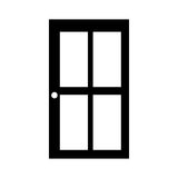 Glass and wood door icon image Royalty Free Stock Photo