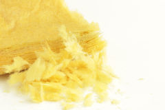 Glass Wool on white background Royalty Free Stock Image